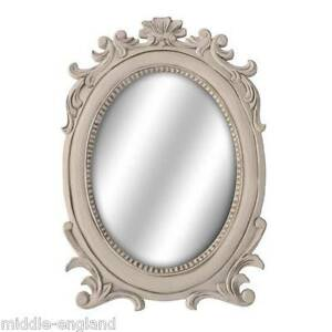 OVAL-WALL-MIRROR-SHABBY-CHIC-WOODEN-FRAME-LOIRE-RANGE-FRENCH-STYLE-ANTIQUE-CREAM