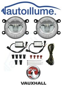 Vauxhall-Astra-G-H-Corsa-D-VXR-SRI-Zafira-Tigra-LED-DRL-Angel-Eye-Fog-Light-Kit
