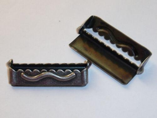 10 Stück Regler Versteller Feststeller für Hosenträger  30 mm altsilber NEUWARE