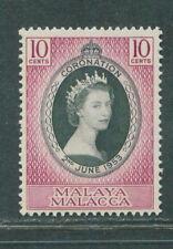 Malacca coronation QEII 10c 1953 mnh # E 109