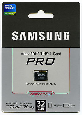 SAMSUNG Micro SD Memory Card 32GB Class 10 PRO ,Tablet  Galaxy S3  Note 2
