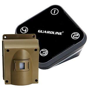 GUARDLINE-Professional-Wireless-Motion-Alert-Driveway-Alarm-Security-System-NEW