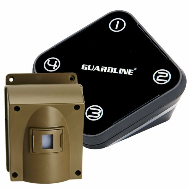 Refurbished GUARDLINE Wireless Motion Alert Driveway Alarm Security System