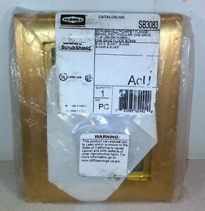 1 NEW HUBBELL SB3083 SCRUBSHIELD CARPET FLANGE BRASS NIP ***MAKE OFFER***