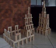 Holzbausteine Bausteine Bauklötze Naturholz gesund NEU TOP Angebot!!! 200 Stück