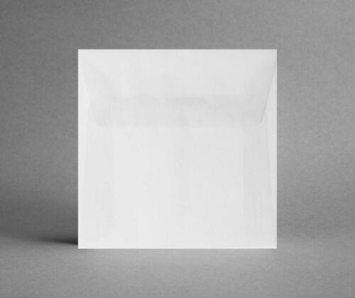 ohne Sichtfenster inkl Versand 5 Kuverts transparent-weiß 155 x 155 mm