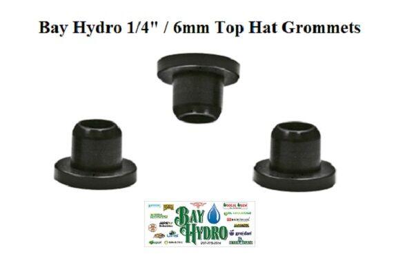 250 pcs pack of 1 4  6mm Top Hat Grommet Seals Hydroponics Drip System Tubing