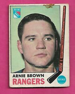 1969-70-OPC-34-RANGERS-ARNIE-BROWN-GOOD-CARD-INV-A9334