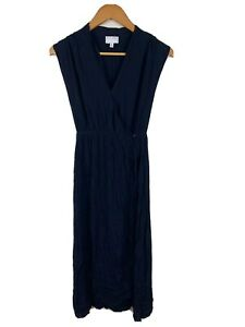 Witchery-Womens-Maxi-Dress-Size-6-Navy-Blue-100-Viscose-Good-Condition