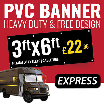 3ft x 1ft PVC Banner Custom Printed Outdoor Heavy Duty Banners for Advertising