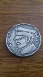 WW2-WWII-German-5RM-Adolf-Hitler-1935-Coin-Third-Reich-Commemorative-Coin
