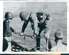 1943 World War II Gen George Patton Leaves Boat To Enter Sicily Press Photo