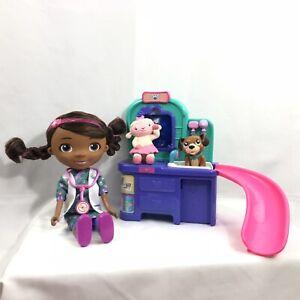 Details About Disney Doc Mcstuffins Pet Vet Magic Talking Doll Vet Table Slide Lambie Findo