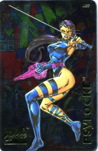 1996 Marvel Comics Super Heroes Magnets Collector Metallic PSYLOCKE #037 X-MEN