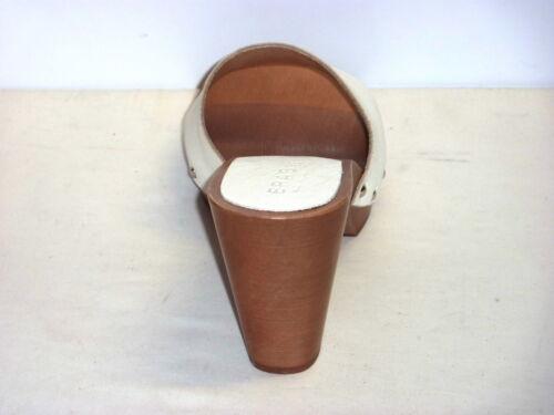 Mano Colore In Made N A Legno 37 Lavoraz Bianco Vero Donna Zoccoli Italy 710 n7f088