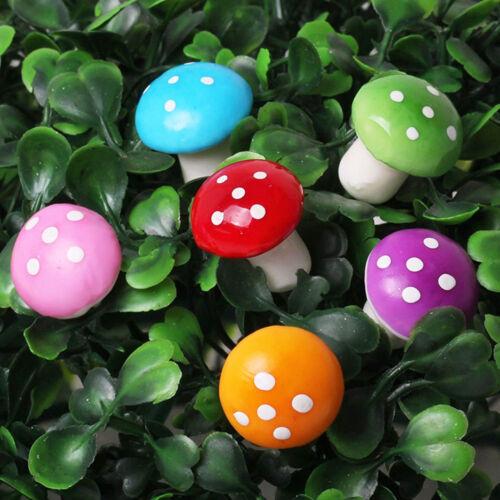 """60Pcs Résine Champignons Décoration Set fée miniature décoration de jardin 0.78/"""" 0.59/"""""""
