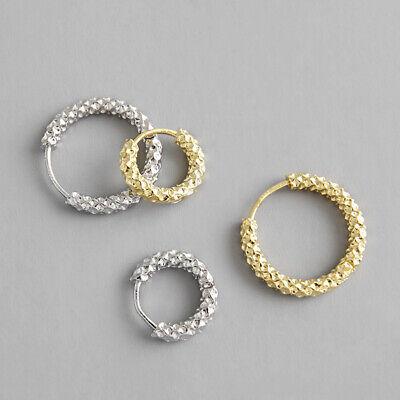 Brillant Creolen Mit Struktur Echt Sterling Silber 925 Damen Ohrringe Kreolen Eine Lange Historische Stellung Haben