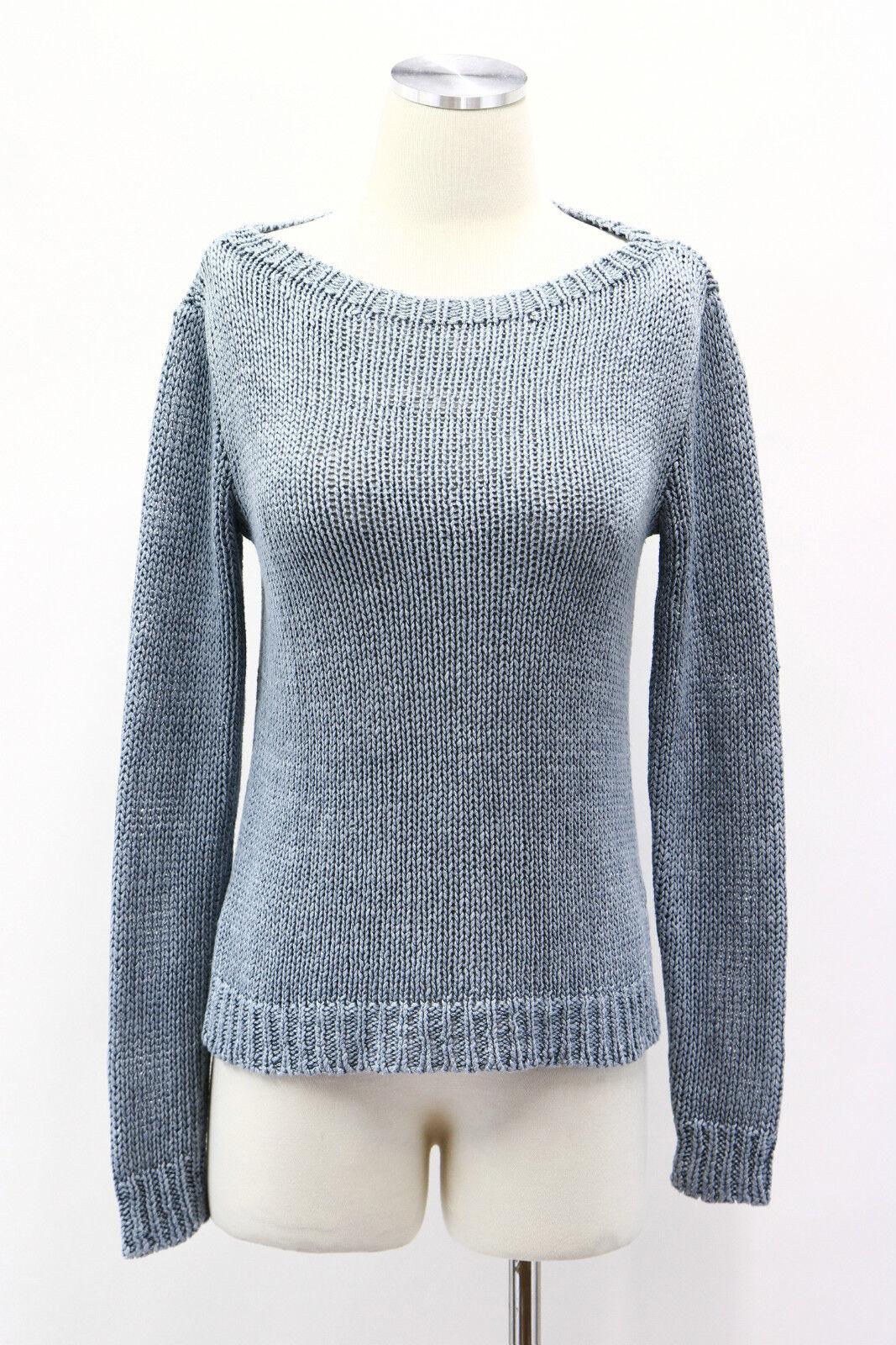 NWT  498 Ralph Lauren Women's 100% 100% 100% Linen Pastel bluee Cable Knit Sweater Size S 6fb200