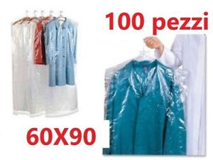 BUSTE-COPRIABITI-GIACCHE-PIUMINI-60X90Cm-PER-LAVANDERIE-TINTORIE-STIRERIE-100pz