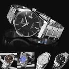 New Mens Watch Stainless Steel Band Date Analog Quartz Sport Wrist Watch Army PN