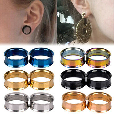 1 Pcs Stainless Steel Ear Plugs Hollow Expander Stretcher Tunnels Piercing CA