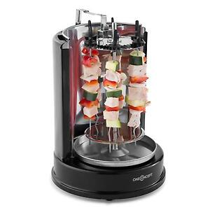 Rotissoire machine à kebab grillade viande poisson rotation 360° brochettes inox