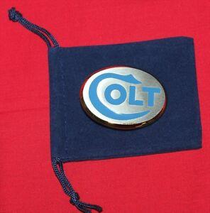 Colt Firearms Factory Mens Two Tone Dress Belt Buckle Mint in Bag