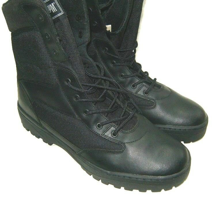 MAGNUM TACTICAL BOOTS BLACK LEATHER/NYLON  SIZE 14 R