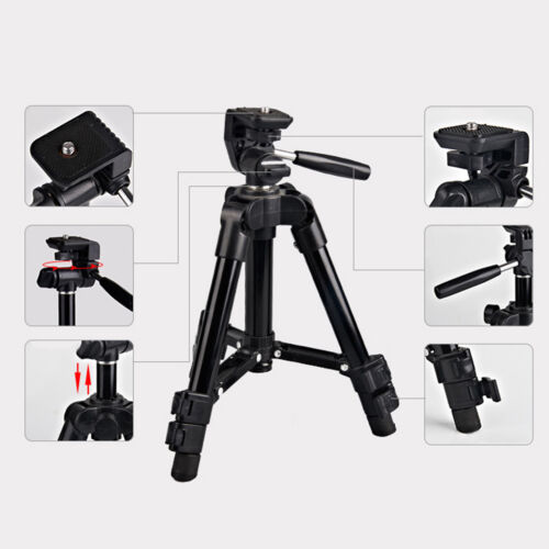 Outdoor portable aluminum tripod stand flexible for camera camcorder ✔zj
