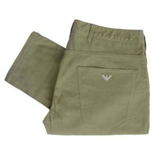 Emporio-Armani-J06-Slim-Fit-Khaki-Pantalones-Vaqueros-De-Gabardina