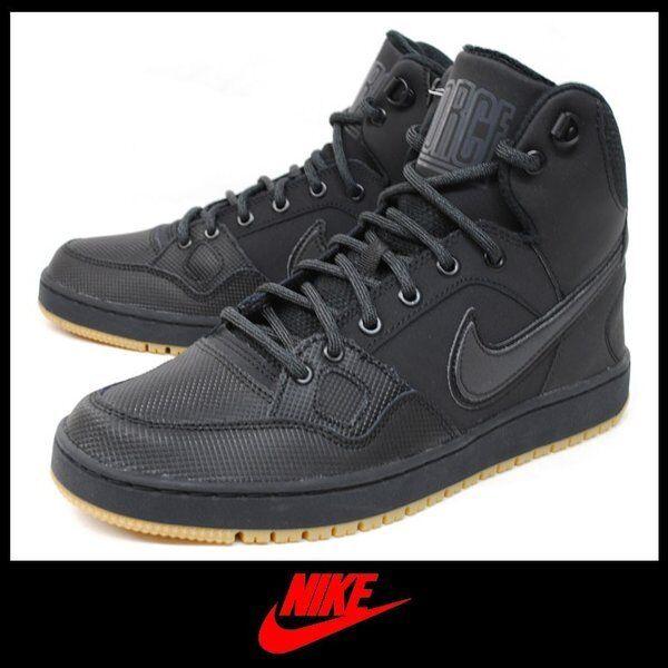 Nike Son Of Force Mid Hiver Noir Hommes Baskets Bottes UK 8