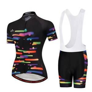 4487aadb3 Ladies Cycling Clothing Kit Women s Cycle Jersey Top Padded (Bib ...