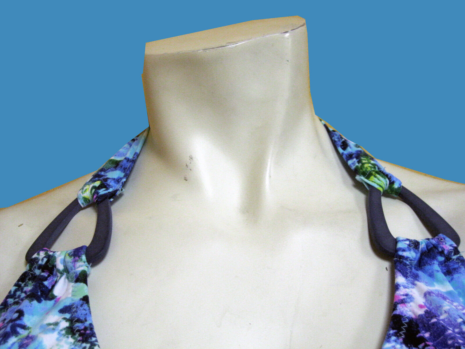 NWT PROFILE GOTTEX  blueE LAGOON  HALTER HALTER HALTER TANKINI BATHING SUIT SWIMSUIT SET SZ -10 1245a3