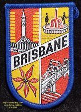LMH PATCH Badge  BRISBANE Landmarks  CITY HALL Fountain STORY BRIDGE Australia