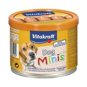 Details About Vitakraft Dog Minis Mini Hotdog Sausages Sausage Meat Treats Puppy Snacks 190gm
