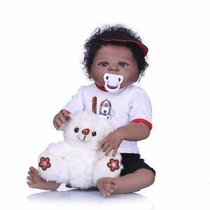 22-034-Ethnic-Biracial-Reborn-Baby-Doll-Curly-Black-Hair-Newborn-Boy-Full-Vinyl-New