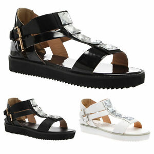 LADIES-WOMENS-ANKLE-STRAP-T-BAR-SUMMER-LOW-HEEL-FASHION-SHOES-SANDALS-SIZE-3-8
