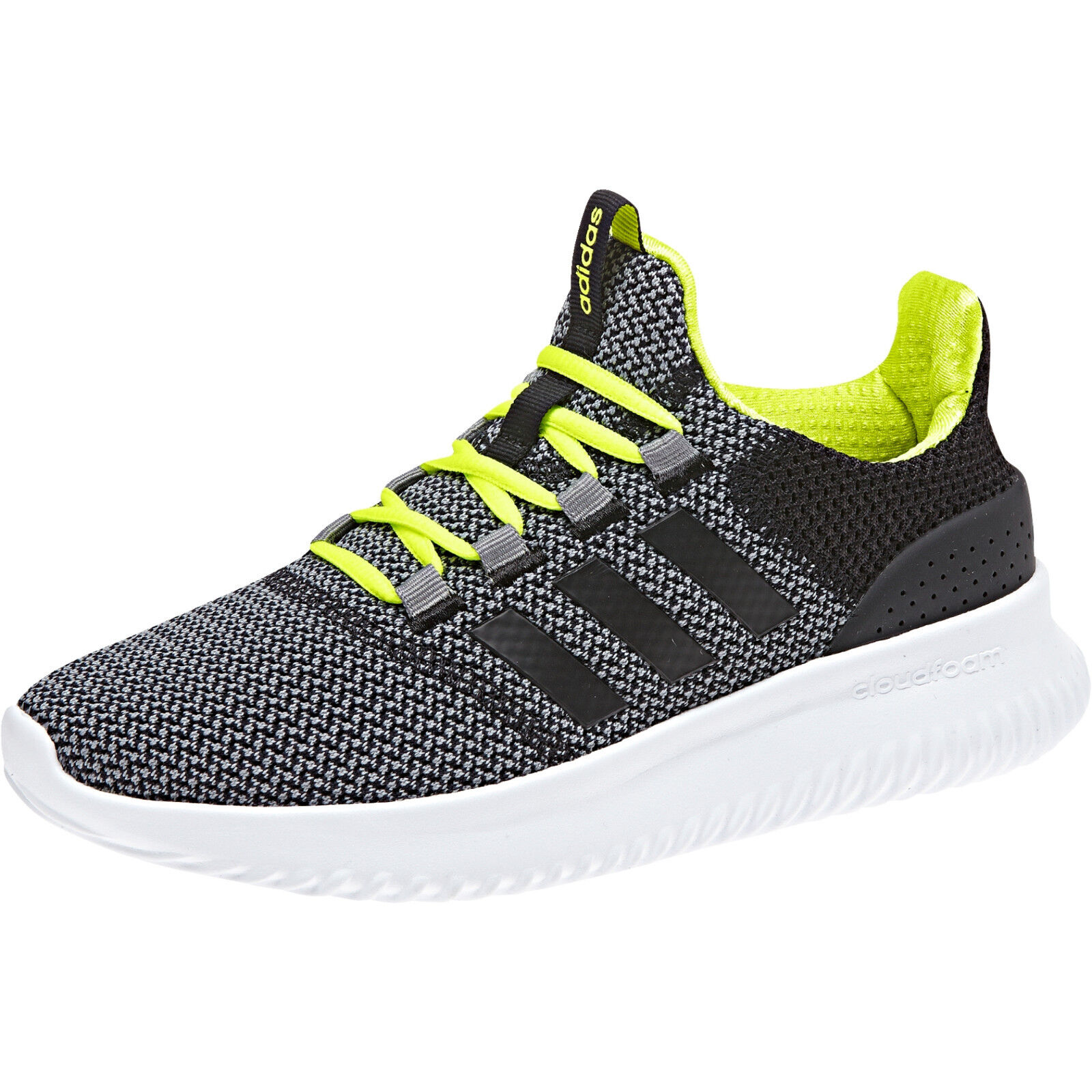 Adidas Neo Cloudfoam Ultimate 38 Kids Trainers Chaussures Enfants Neon Nmd