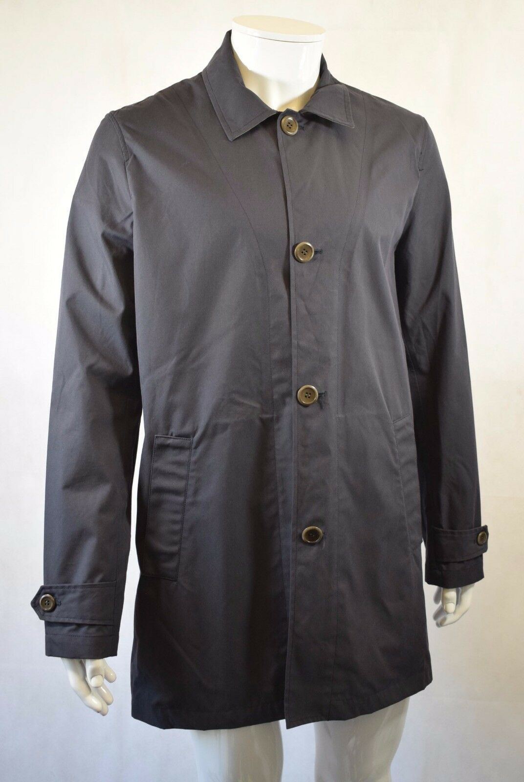Bnwt John Lewis & Co Made in England Mac In Navy - Size L - RRP