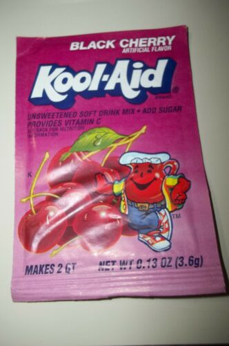 Vintage KOOL-AID Package Pouch Unopened Black Cherry