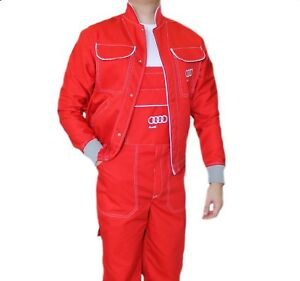 65ba3d4513be Image is loading Audi-WORKWEAR-MECHANIC-SUIT-MENS-OVERALLS-COVERALL-Service-