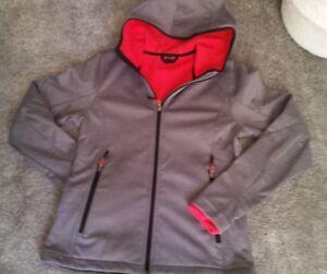 Bekleidung & Schutzausrüstung JackeSoftshell mit Kapuze schwarz Gr S