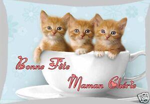 coussin 40 x 28 cm bonne fête maman fête des mères réf FM05 avec prénom ou texte