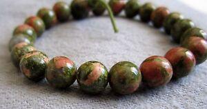 Buddha-Armband-aus-Unakit-17-cm-Power-Beads