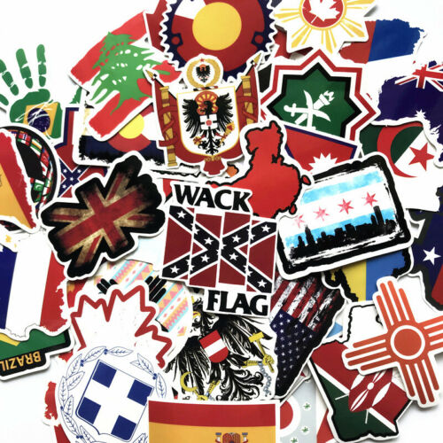 Details about  /National Flags USA CA Stickers Norepeat for Pad Phone Case Laptop Skateboard Car