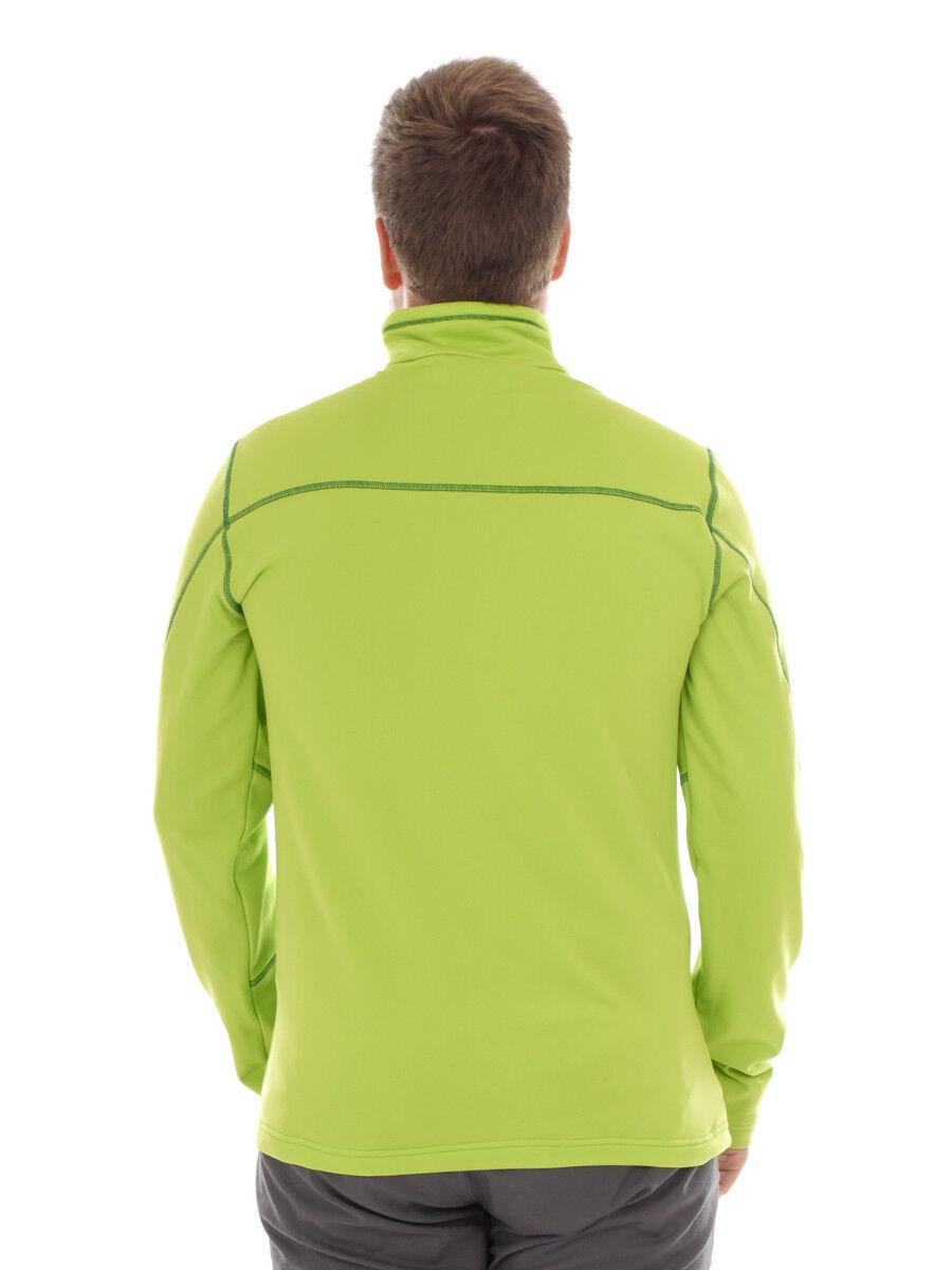 CMP Sweatshirt Funktionsoberteil Kragenshirt Kragenshirt Funktionsoberteil grün atmungsaktiv Tasche 4d698b