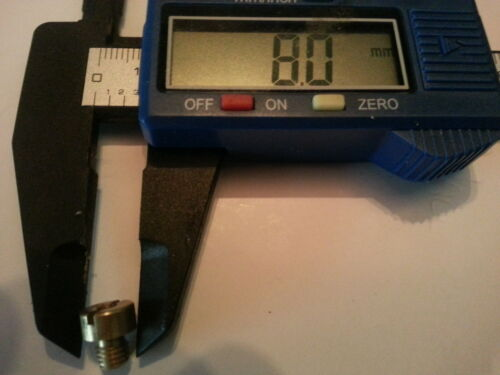 M5 Filetage 5 mm x 0.75 mm pitch MIKUNI type jet principal 8 mm Head 9 mm longueur 120-150