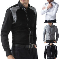 Fancy Classic Formal Shirts Handsome Men Long Sleeve Daily Business Decent Tops