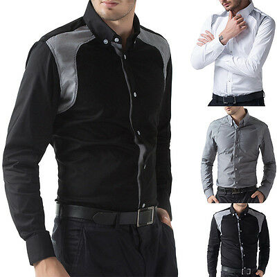 HOT SALE Men's Fashion Slim Fit Long Sleeve Business Work Casual Dress Shirts
