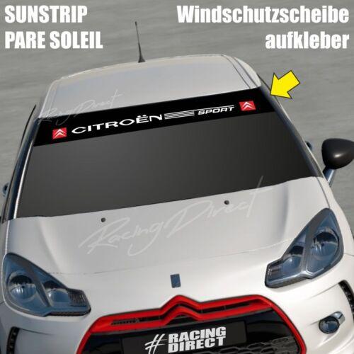 828  Windschutzscheibe Aufkleber CITROEN SPORT decal sticker sunstrip